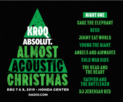 Kroq Almost Acoustic Christmas 2020 Lineup Night 2 Scuba | Zqag